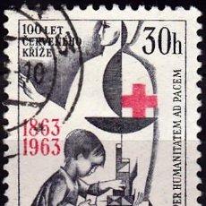 Sellos: 1963 - CHECOSLOVAQUIA - CENTENARIO DE LA CRUZ ROJA INTERNACIONAL - YVERT 1283. Lote 147048726