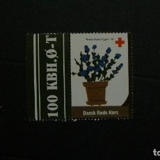 Sellos: DINAMARCA-1997-CRUZ ROJA-VIÑETA DE FANTASIA-FLORA. Lote 151042782