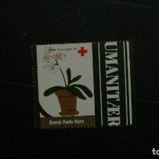 Sellos: DINAMARCA-1997-CRUZ ROJA-VIÑETA DE FANTASIA-FLORA. Lote 151042834