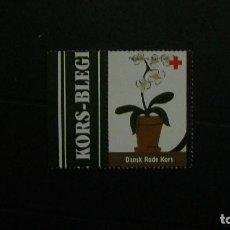 Sellos: DINAMARCA-1997-CRUZ ROJA-VIÑETA DE FANTASIA-FLORA. Lote 151042870