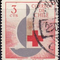 Sellos: 1963 - CHILE - CENTENARIO DE LA CRUZ ROJA INTERNACIONAL - YVERT 300. Lote 151530150