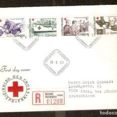 Sellos: FINLANDIA. 1964. FDC MI 589/92. CRUZ ROJA. Lote 155378690