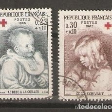 Timbres: FRANCIA. 1965. YV. Nº 1466,1467. Lote 158457302