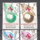 Sellos: BURUNDI Nº 58/61º CENTENARIO DE LA CRUZ ROJA. SERIE COMPLETA. Lote 160169138
