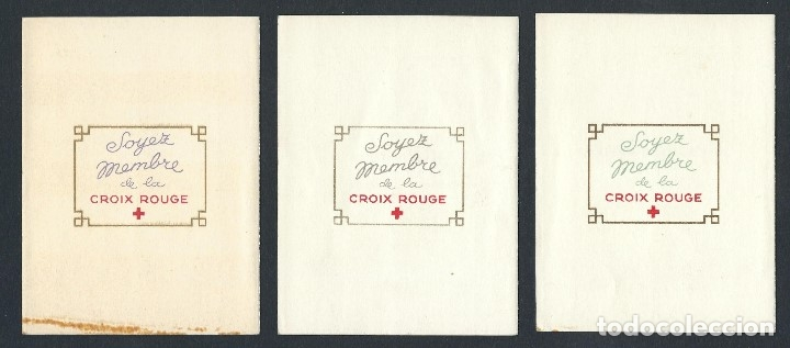 Sellos: SELLOS FRANCIA 1956 1957 1958 Cruz Roja 3 carnets completos - Foto 2 - 178066537