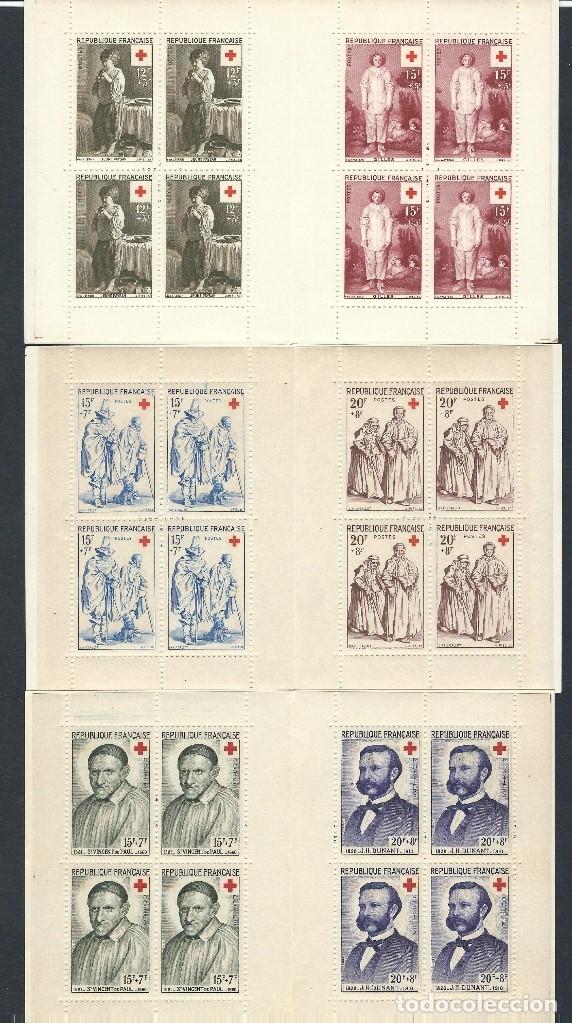 Sellos: SELLOS FRANCIA 1956 1957 1958 Cruz Roja 3 carnets completos - Foto 3 - 178066537