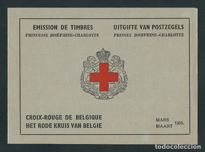 BELGICA 1953 CARNET CRUZ ROJA (Sellos - Temáticas - Cruz Roja)