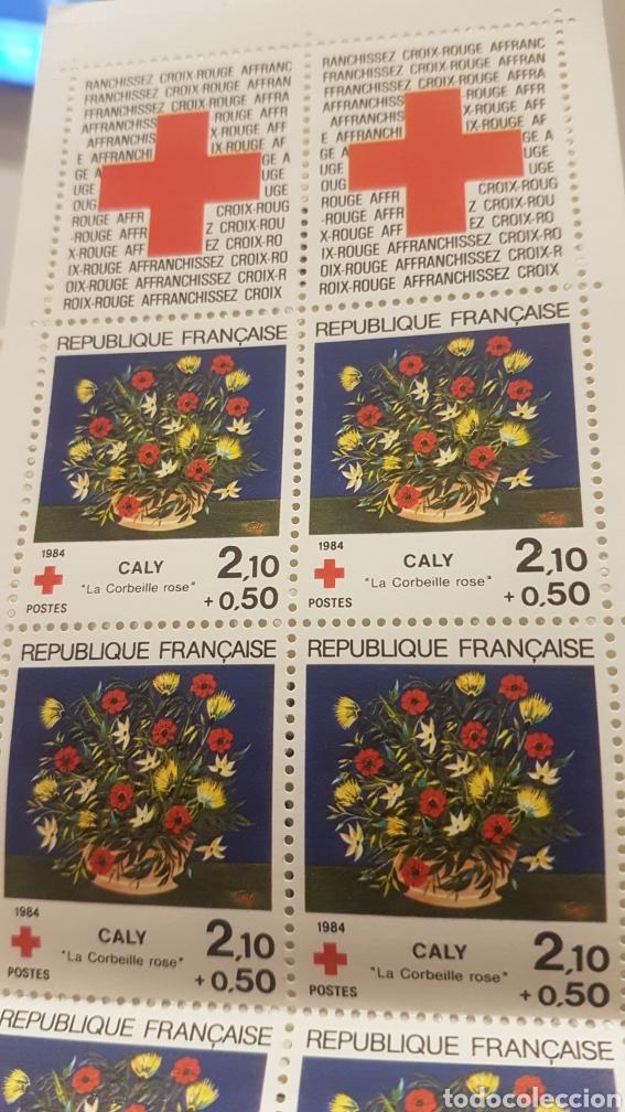 Sellos: CARNET cruz roja SELLOS FRANCIA 1984 - Foto 2 - 194219905