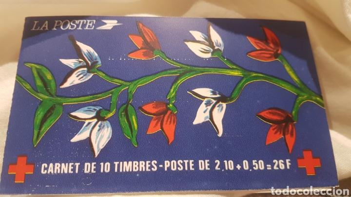 CARNET CRUZ ROJA SELLOS FRANCIA 1984 (Sellos - Temáticas - Cruz Roja)