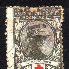 Sellos: GIROEXLIBRIS.- VIÑETA DE CROIX ROUGE FRANÇAISE ASSOCIATION DES DAMES FRANÇAISES --- GRAL. BALFOURIER. Lote 210013763