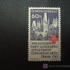 Sellos: CHECOSLOVAQUIA Nº YVERT 1171** AÑO 1961. 20 CONGRESO DE SOCIEDADES DE LA CRUZ ROJA, EN PRAGA.. Lote 206498401