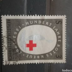 Sellos: SELLOS AUSTRIA (OSTERREICH) MTDOS/1963/100ANIV/CRUZ/ROJA/EMBLEMA/SIMBOLO/AYUDA/LLAMA/. Lote 208240321