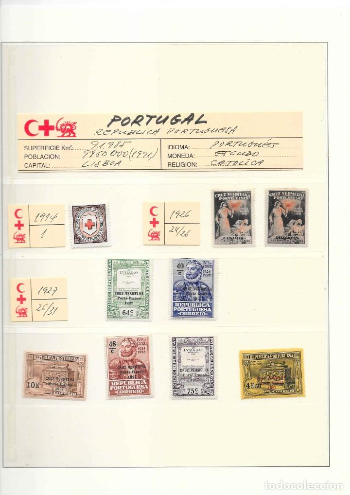 PORTUGAL COLECCION DE FRANQUICIAS AÑOS 1914 AL 1947 SERIES NUEVAS (Sellos - Temáticas - Cruz Roja)