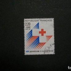 Francobolli: /05.08/-FRANCIA-1988-2,20+0,60 FR Y&T 2555A(D.13 1/2X13) SERIE COMPLETA EN USADO/º/. Lote 213674593