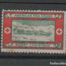 Sellos: CL2-530 CRUZ ROJA - AMERICAN RED CROSS - MERRY CHRISTMAS -1913.. Lote 218322682
