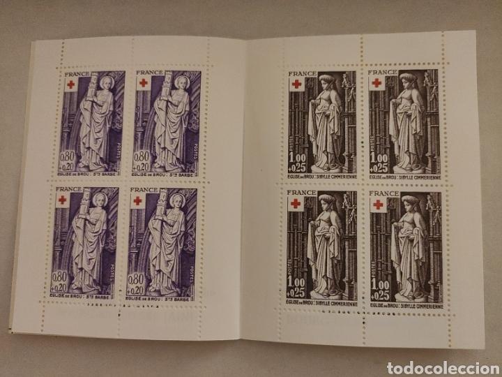 Sellos: FRANCIA, Carnet Cruz Roja 1976, Nuevo MNH **, CR2025 con Y 1910/11 x4 - Foto 2 - 220984586