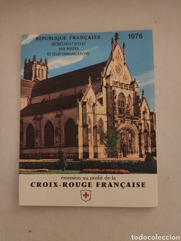 FRANCIA, CARNET CRUZ ROJA 1976, NUEVO MNH **, CR2025 CON Y 1910/11 X4 (Sellos - Temáticas - Cruz Roja)