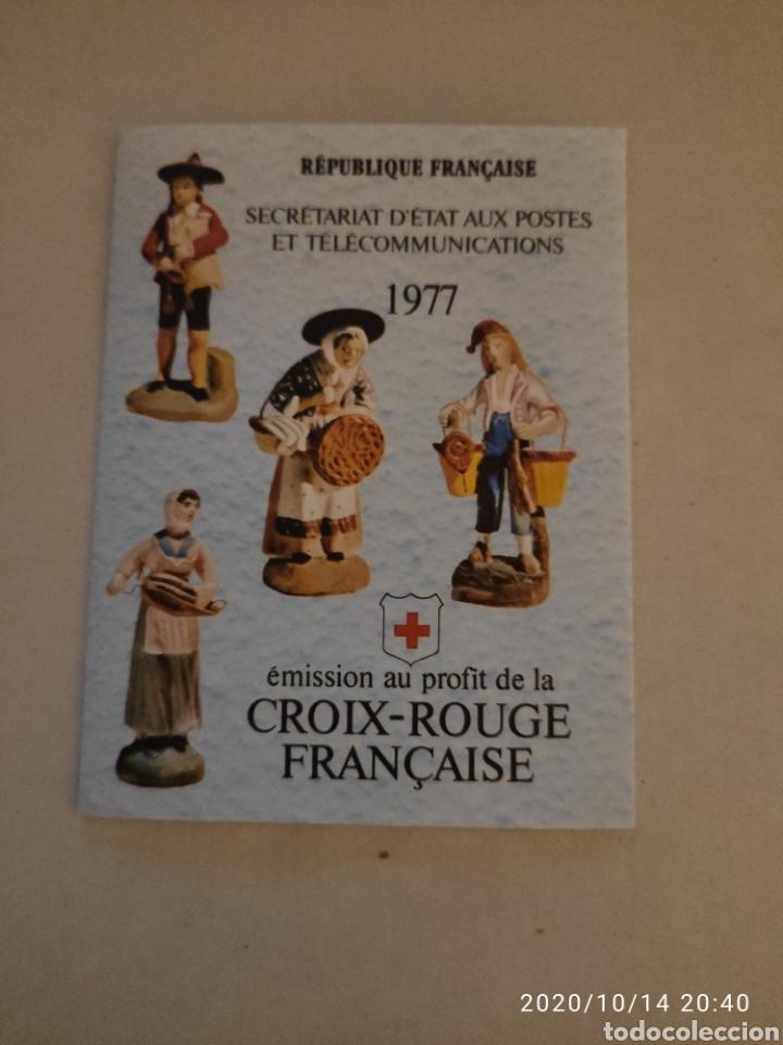 CARNET FRANCIA CRUZ ROJA 1977 (Sellos - Temáticas - Cruz Roja)