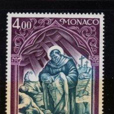 Sellos: MONACO 1005** - AÑO 1975 - CRUZ ROJA MONEGASCA - SAN BERNARDO DE SIENA. Lote 222050378