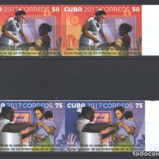Sellos: 6257NP-2 CUBA 2017 MNH THE 130TH ANNIVERSARY OF CHILDREN'S NURSES. Lote 226311168