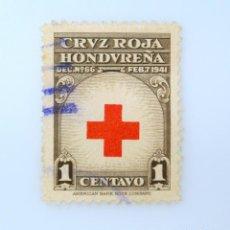Sellos: ANTIGUO SELLO POSTAL HONDURAS 1950 ,1 CENTAVO, CRUZ ROJA ,USADO. Lote 226832930