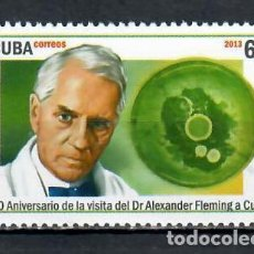 Sellos: 5701 CUBA 2013 MNH THE 60TH ANNIVERSARY OF THE VISIT OF ALEXANDER FLEMING, 1881-1955. Lote 228165080