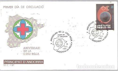 FDC ANDORRA ESP. 1989 (Sellos - Temáticas - Cruz Roja)