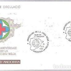 Sellos: FDC ANDORRA ESP. 1989. Lote 232664146