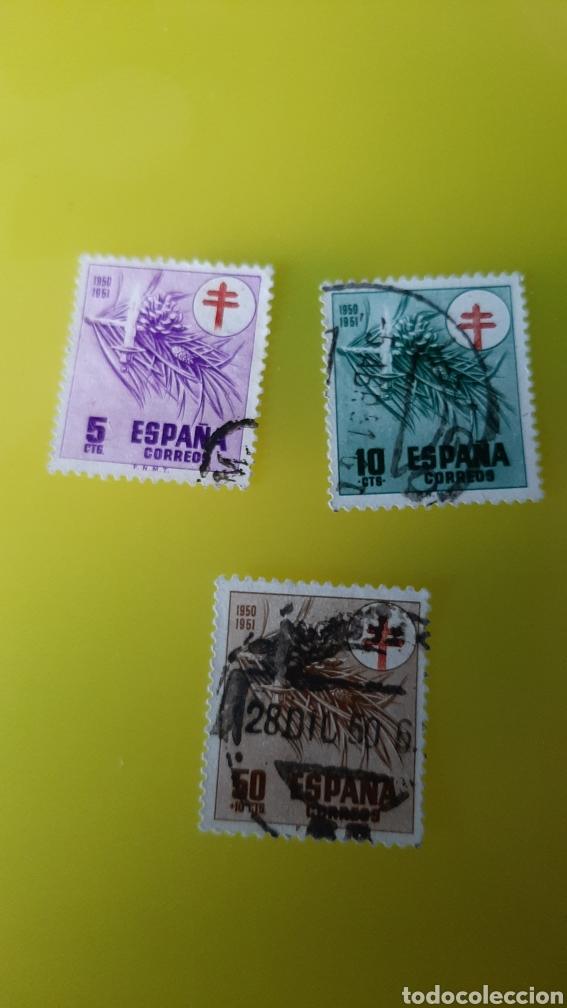 1950 ESPAÑA EDIFIL 19841985 1986 USADOS PRO TUBERCULOSIS CRUZ ROJA ESPAÑA (Sellos - Temáticas - Cruz Roja)