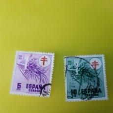 Sellos: 1950 ESPAÑA EDIFIL 19841985 1986 USADOS PRO TUBERCULOSIS CRUZ ROJA ESPAÑA. Lote 233794975