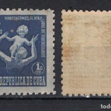 Sellos: 12-4 CUBA 1951 MNH TAX FOR THE OF TUBERCOLOSIS FUND. Lote 236770645