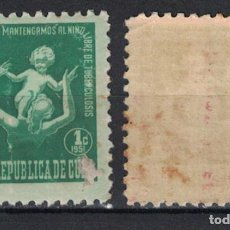 Sellos: 12-2 CUBA 1951 MNH TAX FOR THE OF TUBERCOLOSIS FUND. Lote 236770710