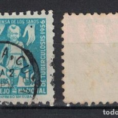 Sellos: 30-3 CUBA 1956 U TAX FOR THE NATIONAL COUNCIL OF TUBERCOLOSIS FUND. Lote 236771395