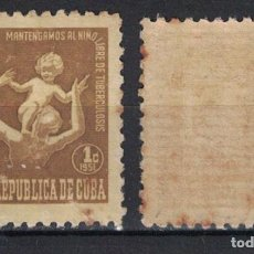 Sellos: 12-3 CUBA 1951 MNH TAX FOR THE OF TUBERCOLOSIS FUND. Lote 236771450