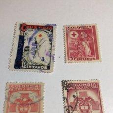 Sellos: CRUZ ROJA COLOMBIA AÑOS 40-50. Lote 238139270