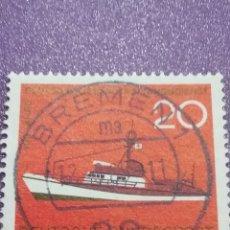 Timbres: SELLO ALEMANIA R. FEDERAL NUEVOS/1965/1CENT/SERVICIO/RESCATE/BARCO/CRUZ ROJA/TRANSPORTE/NAVIO/. Lote 240889985