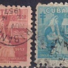 Sellos: CUBA 1957 TAX FOR THE NATIONAL COUNCIL OF TUBERCOLOSIS FUND U - THE MEDICINE. Lote 241367900