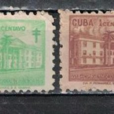 Sellos: CUBA 1958 TAX FOR THE NATIONAL COUNCIL OF TUBERCOLOSIS FUND NG - THE MEDICINE. Lote 241368650