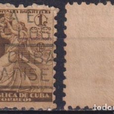 Sellos: CUBA 1941 TAX FOR THE NATIONAL COUNCIL OF TUBERCOLOSIS FUND U - THE MEDICINE. Lote 241370030