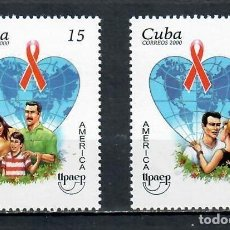 Sellos: CUBA 2000 AMERICA - AIDS CAMPAIGN MNH - THE MEDICINE. Lote 241370535