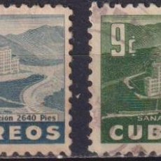 Sellos: CUBA 1954 GENERAL BATISTA SANATORIUM U - THE MEDICINE, HOTELS. Lote 241370650