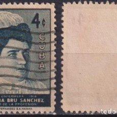 Sellos: CUBA 1957 NURSE VICTORIA BRU SANCHEZ U - THE MEDICINE. Lote 241375105