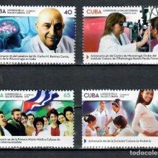 Sellos: CUBA 2018 CUBAN MEDICAL ADVANCES ANNIVERSARIES MNH - SCIENTISTS, THE MEDICINE. Lote 241377875