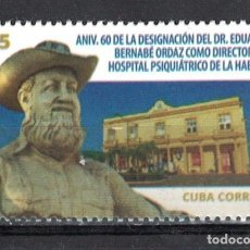 Sellos: CUBA 2019 EDUARDO BERNABE ORDAZ MNH - THE MEDICINE, DOCTORS. Lote 241378355
