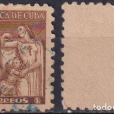 Sellos: CUBA 1943 TAX FOR THE NATIONAL COUNCIL OF TUBERCOLOSIS FUND NG - THE MEDICINE. Lote 241378970