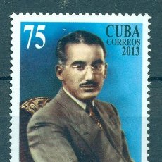Sellos: CUBA 2013 THE 60TH ANNIVERSARY OF THE DEATH OF MARIO MUNOZ MONROY, 1912–1953 MNH - CELEBRITIES, TH. Lote 241643640