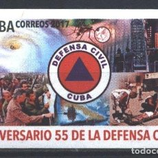 Sellos: CUBA 2017 THE 55TH ANNIVERSARY OF THE CUBAN CIVIL DEFENCE MNH - CARDS, THE MEDICINE, HURRICANE, FI. Lote 241645200