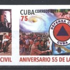 Sellos: CUBA 2017 THE 55TH ANNIVERSARY OF THE CUBAN CIVIL DEFENCE MNH - CARDS, THE MEDICINE, HURRICANE, FI. Lote 241645220