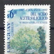 Sellos: URUGUAY 1997 THE 100TH ANNIVERSARY OF THE DISCOVERY OF ACETYLSALYCYLIC ACID MNH - SCIENTISTS, THE. Lote 241653005