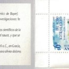 Sellos: URUGUAY 1997 THE 100TH ANNIVERSARY OF THE DISCOVERY OF ACETYLSALYCYLIC ACID - BOOKLET MNH - THE ME. Lote 241653045